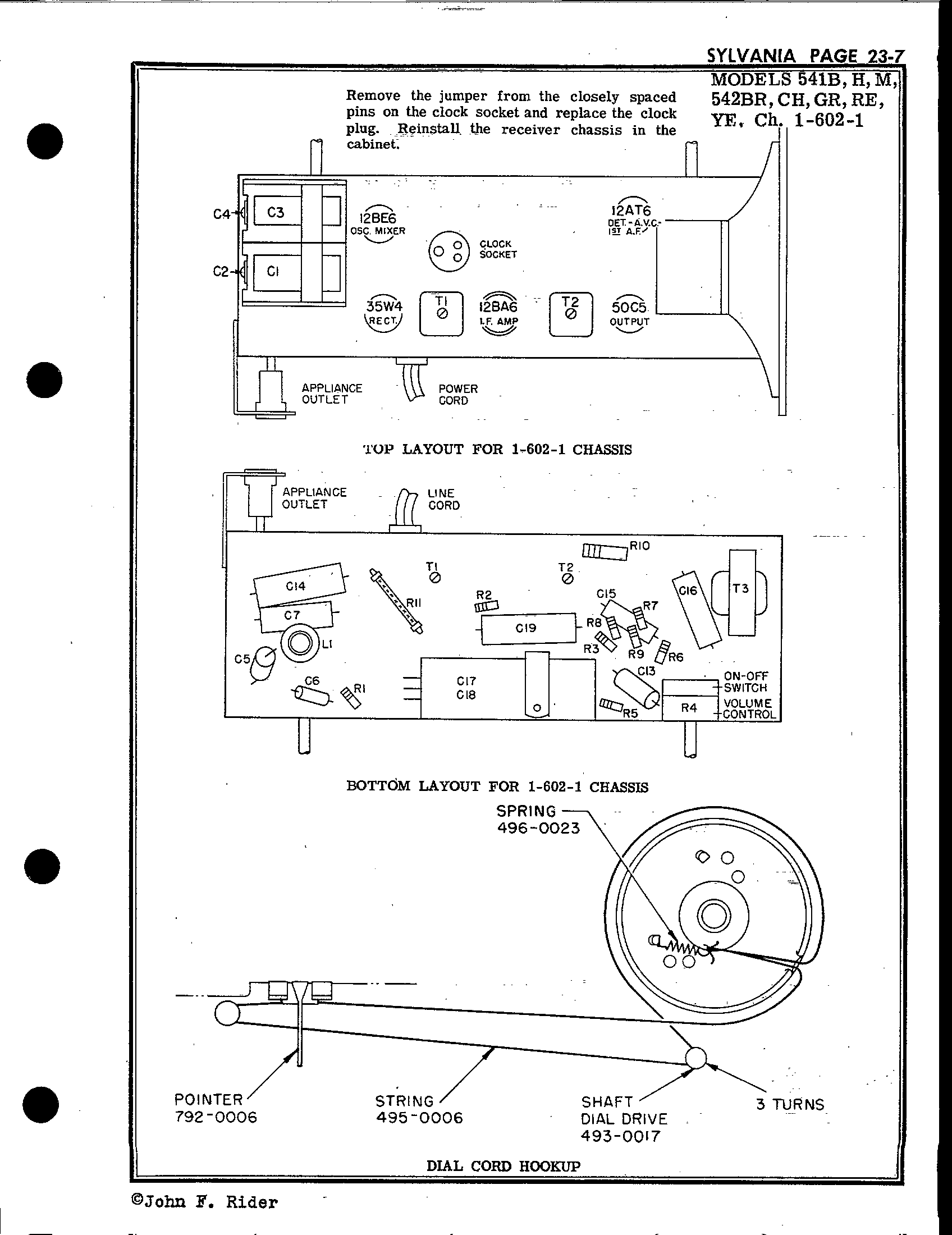 Sylvania Electric Products 541h Antique Electronic Supply. Page 2 3955 Kb Rider Manual Volume 23. Wiring. Sylvania Tube Radio Schematics At Scoala.co