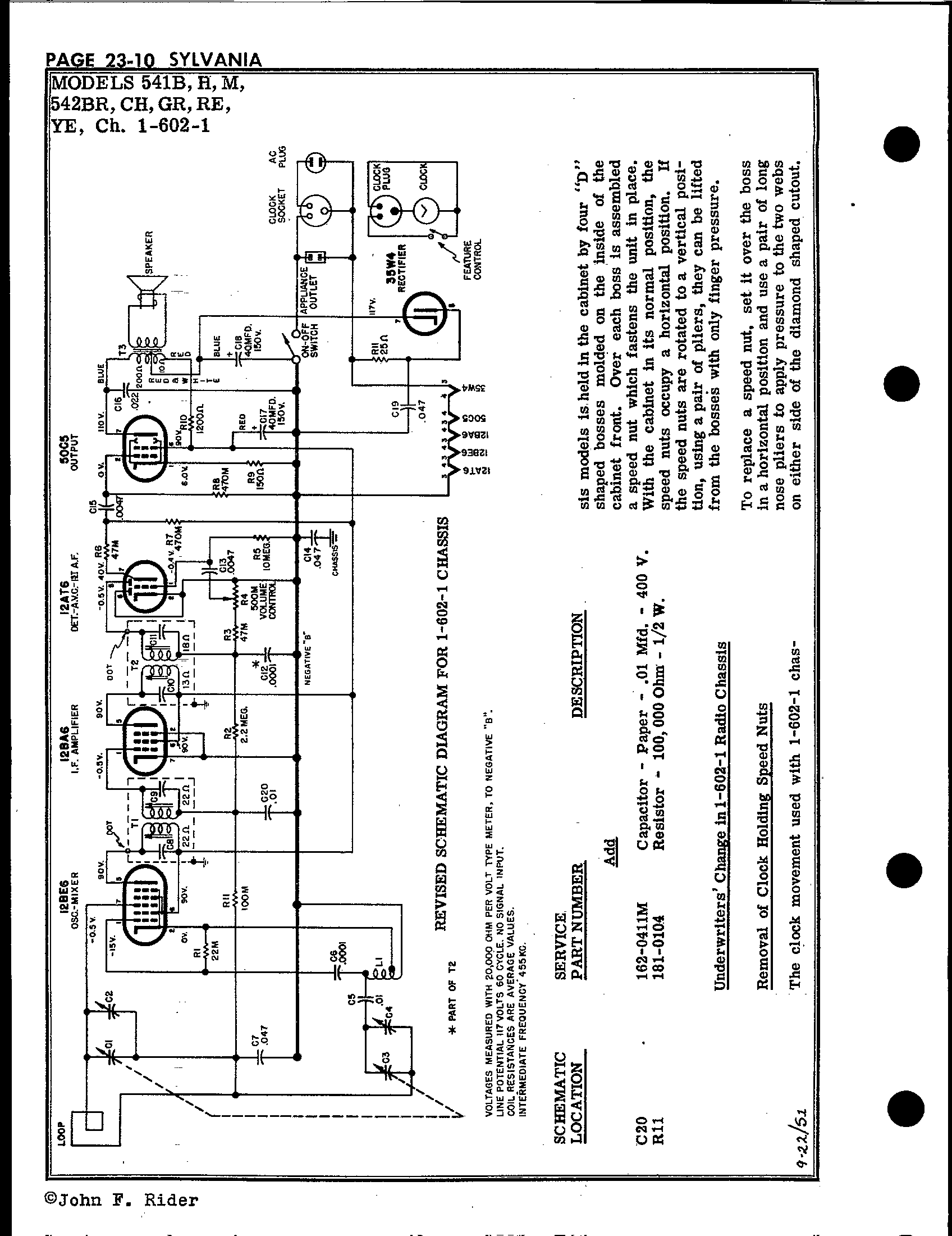 Sylvania Electric Products 541h Antique Electronic Supply. Page 5 617 Kb Rider Manual Volume 23. Wiring. Sylvania Tube Radio Schematics At Scoala.co