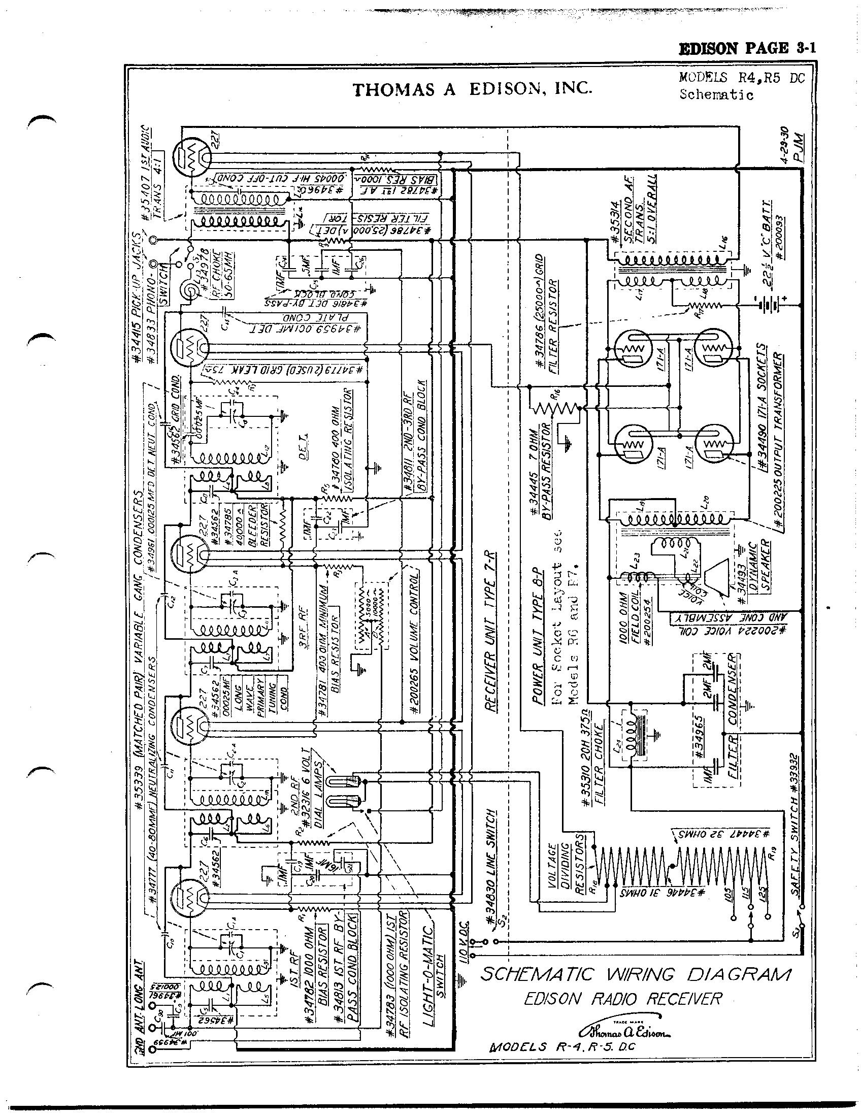 Thomas A. Edison, Inc. R5 | Antique Electronic Supply