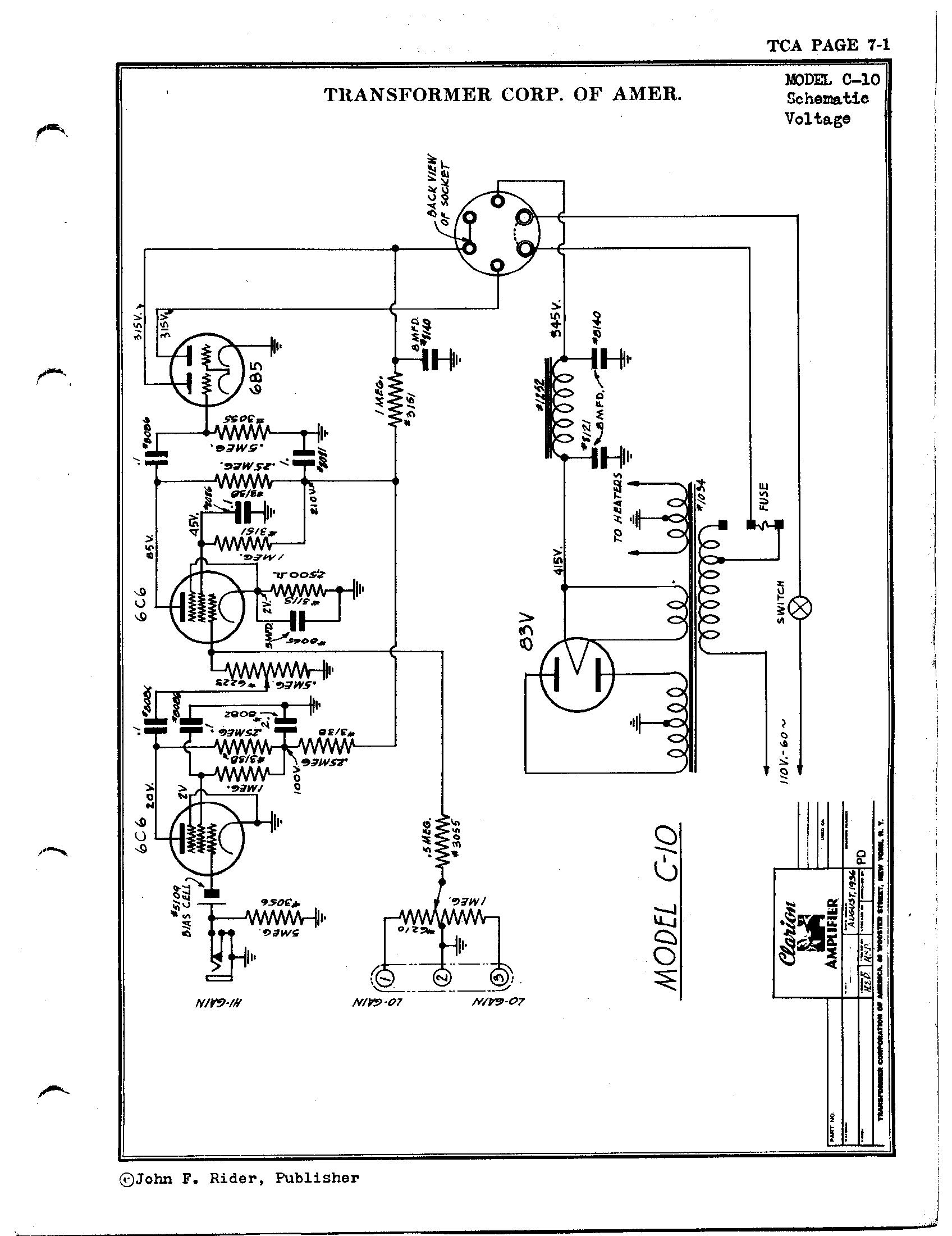 transformer corp  of america c