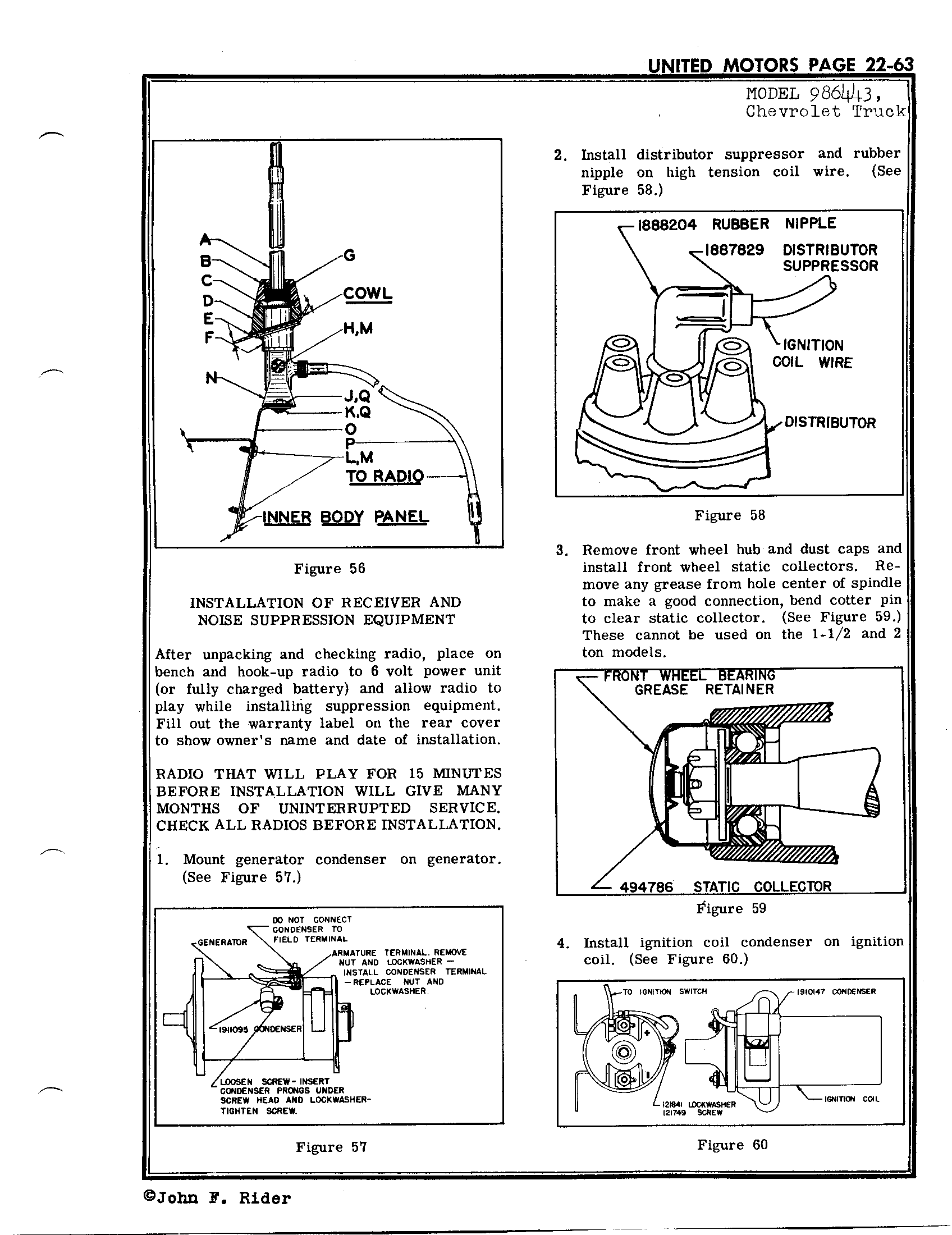 United Motors Service Delco 986443 Antique Electronic Supply Wiring 6 Volt Ignition Coil Circuit Diagram Page 59 Kb Rider Manual Volume 22