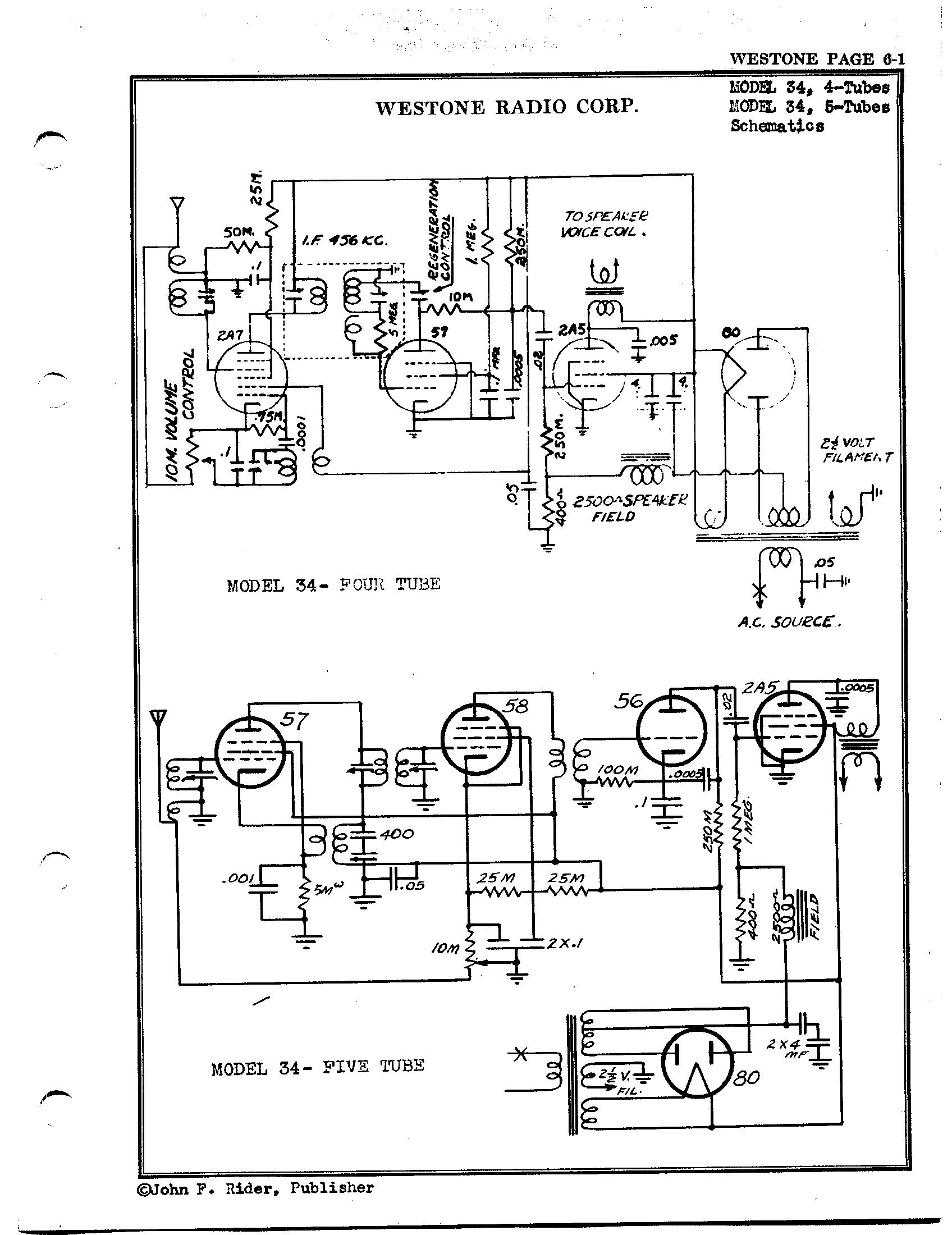 5 Tube Am Radio Schematic Diagram    Wiring Diagram