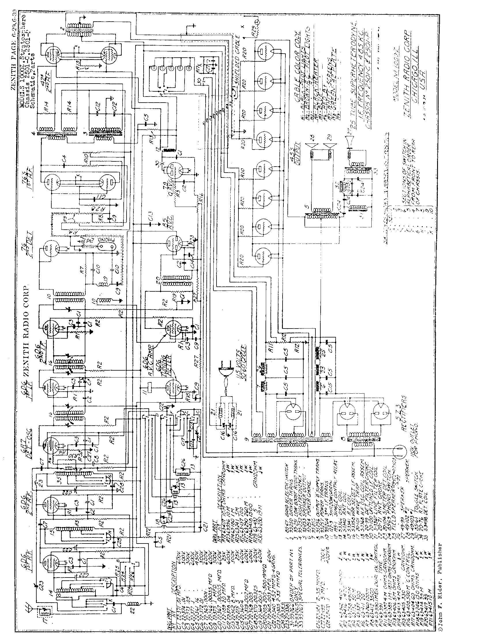 zenith radio corp  1000z