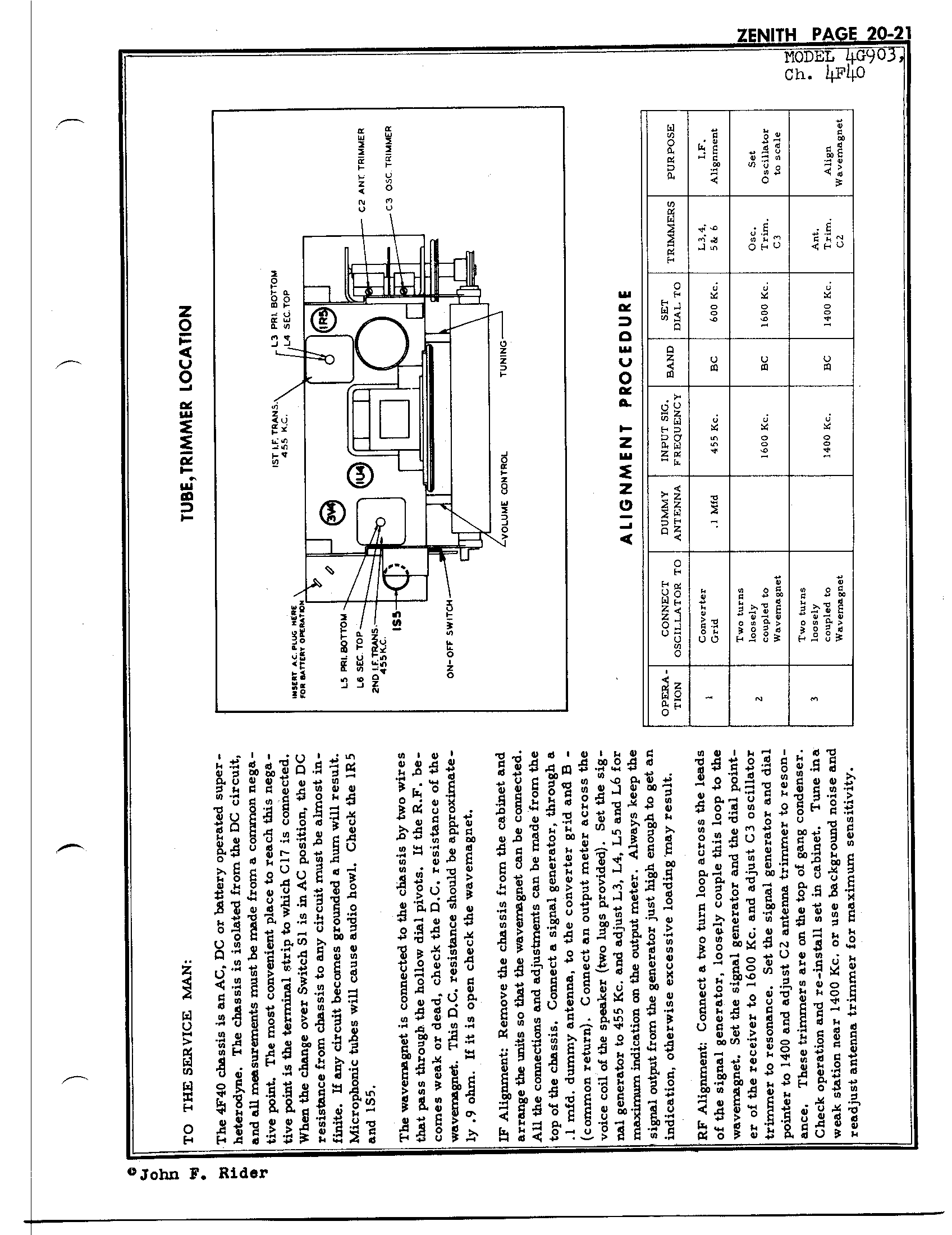 Zenith Radio Corp 4g903 Antique Electronic Supply. Page 1 6568 Kb Rider Manual Volume 20. Wiring. Zenith Tube Radio Schematics N73 1 At Scoala.co