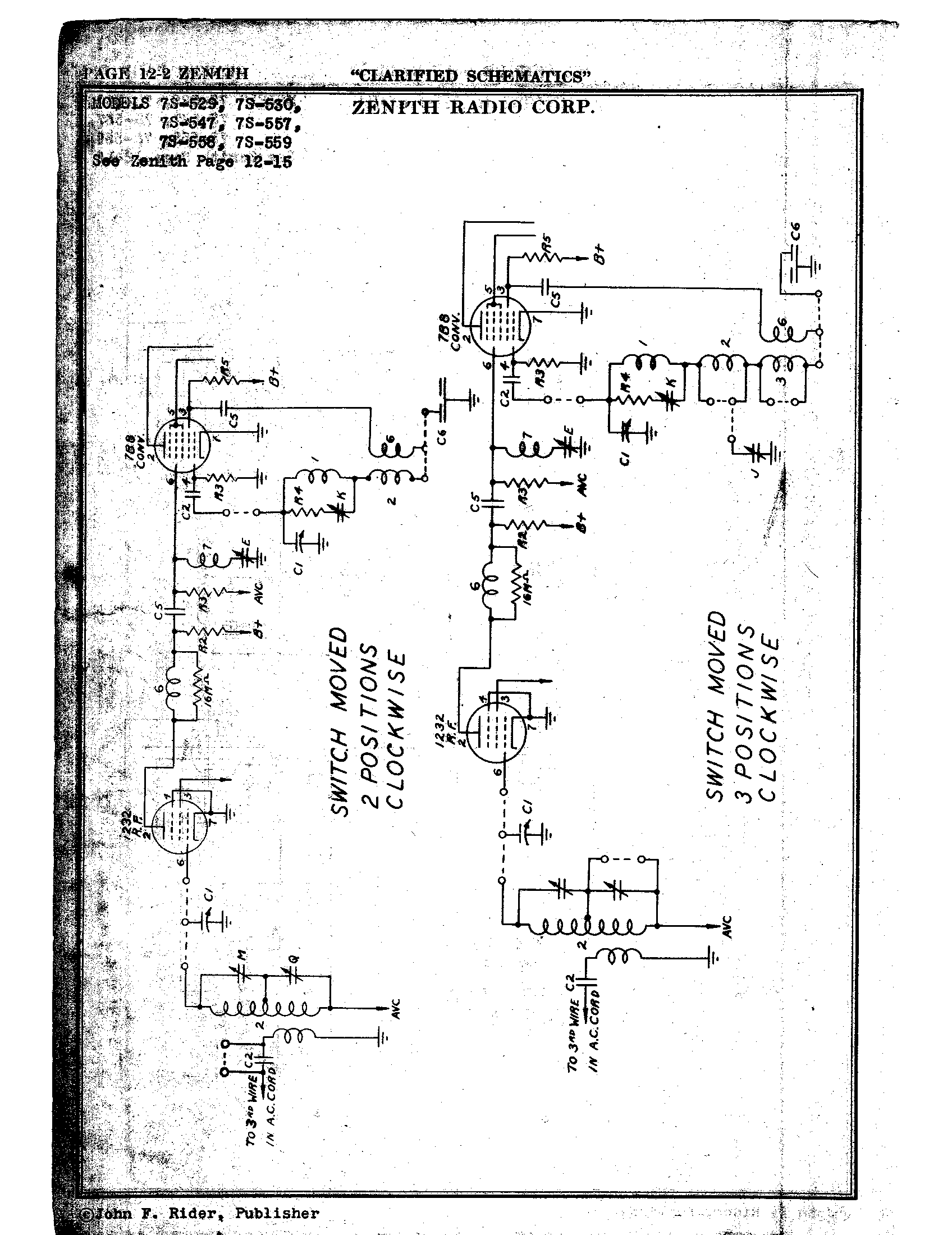 zenith radio corp  7s