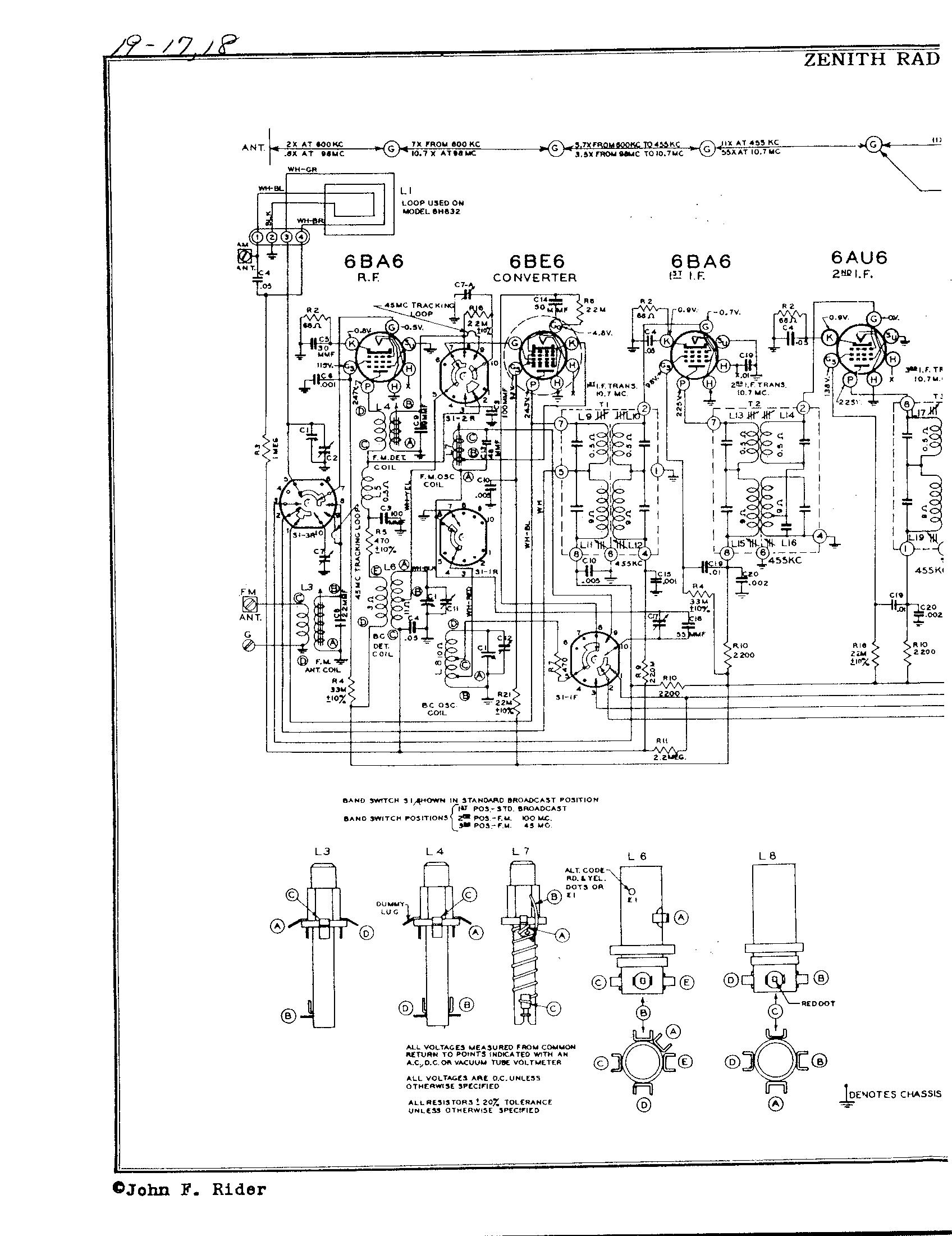 zenith radio corp  8h832