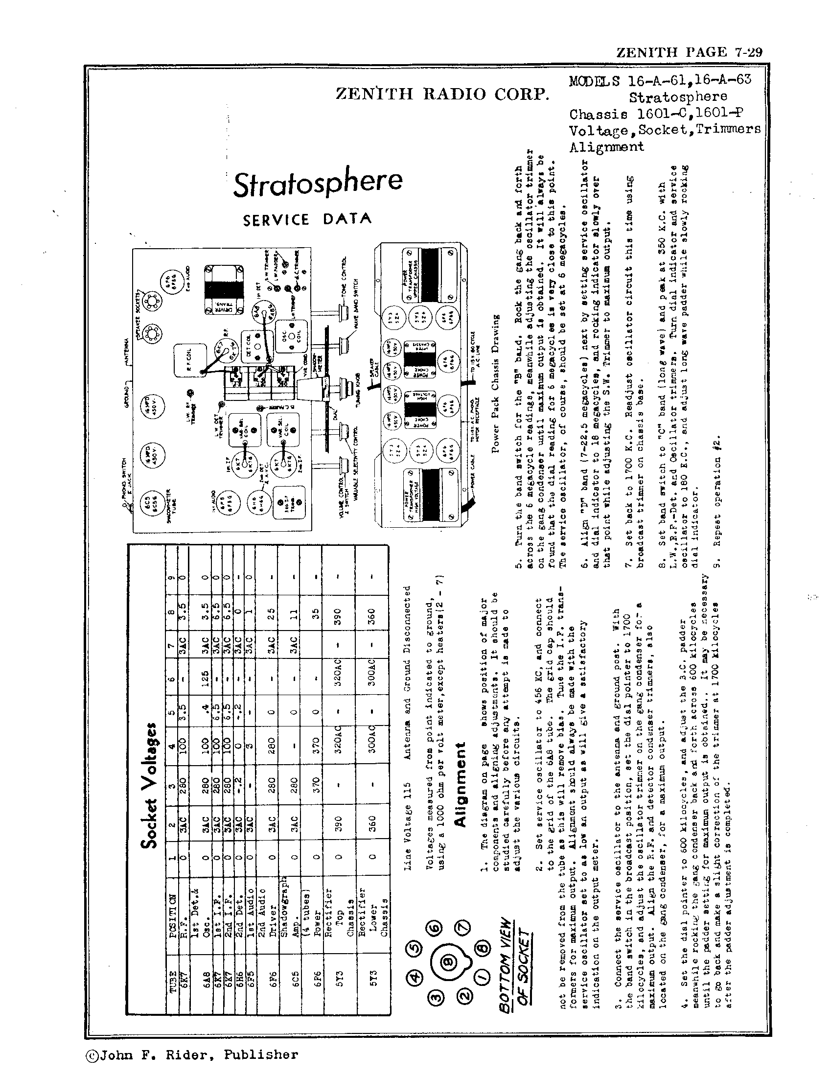Zenith Radio Corp Stratoshpere Antique Electronic Supply