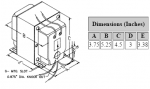Dimensions for 2,000 V C.T. @ 173 mA