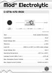 Datasheet for 16 µF - 475 V