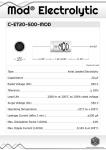 Datasheet for 20 µF - 500 V