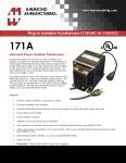 Specification Sheet for 100 VA