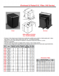 Specification Sheet for 0.05 H / 2 A