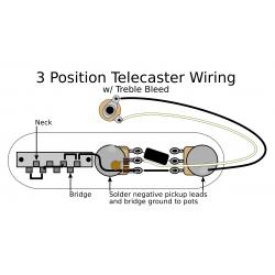 3 Position Tele Electronics Upgrade w/ Treble Bleed