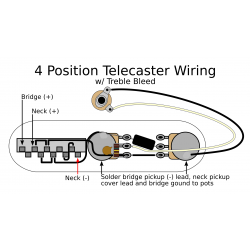 4 Position Tele Electronics Upgrade w/ Treble Bleed