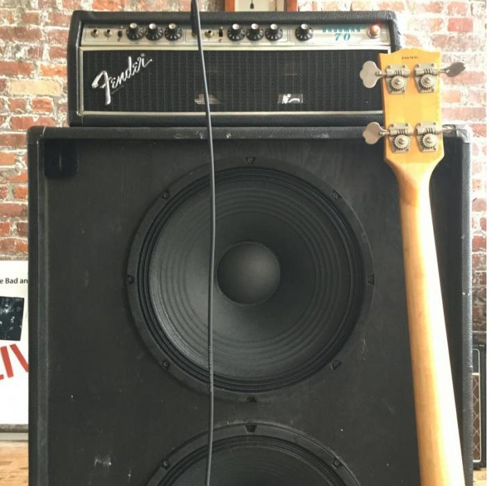 "Bassman 70 with new Jensen 15"" speakers in a Fender 2-15 Cabinet!"