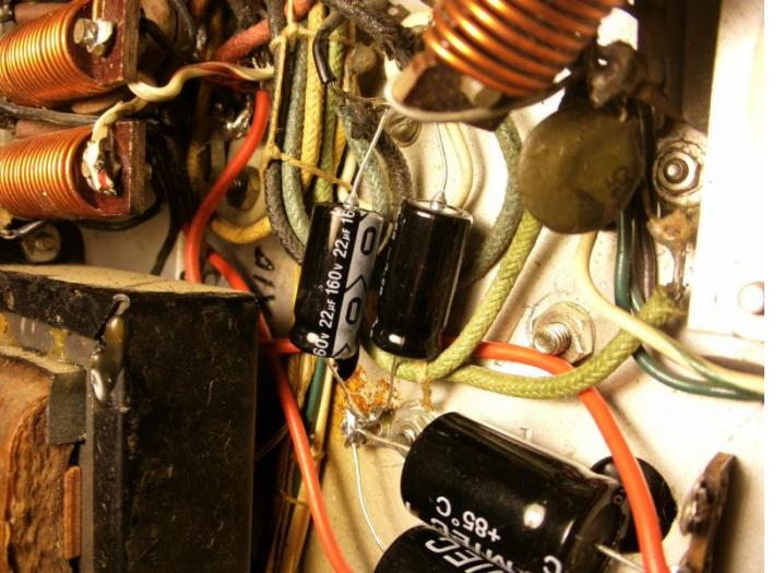 Viking II Bias Supply Filter Capacitors