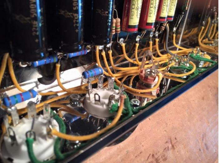 Power Amp section of a 5F10 reproduction