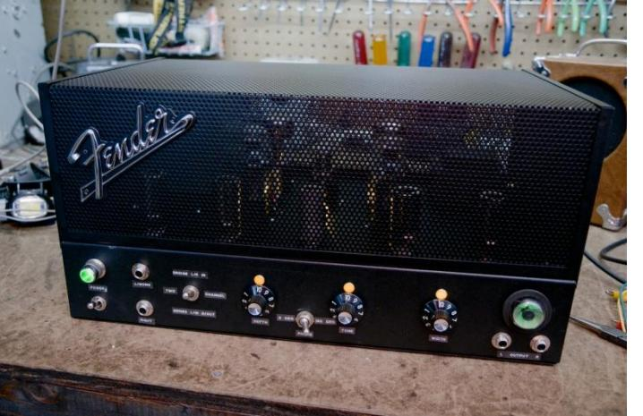 Dual spring reverb unit to generate stereo. Highlighting the beautiful Hammond chassis combo.