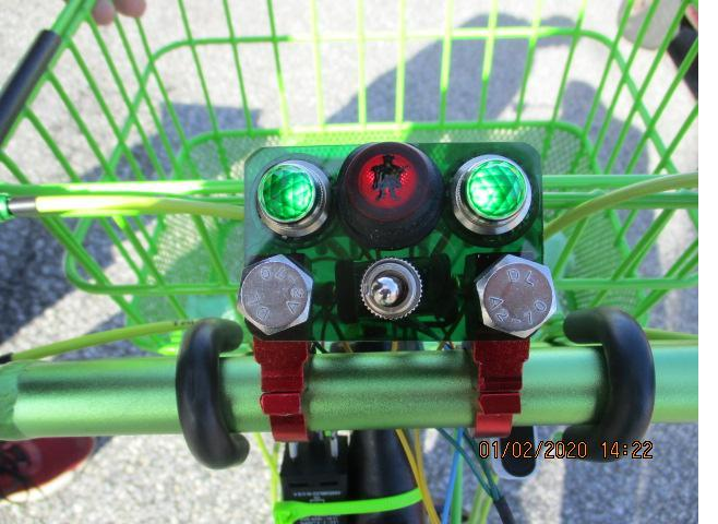 My latest use of this is on my bicycle. It has turn signal lights and a flasher switch for these lights.