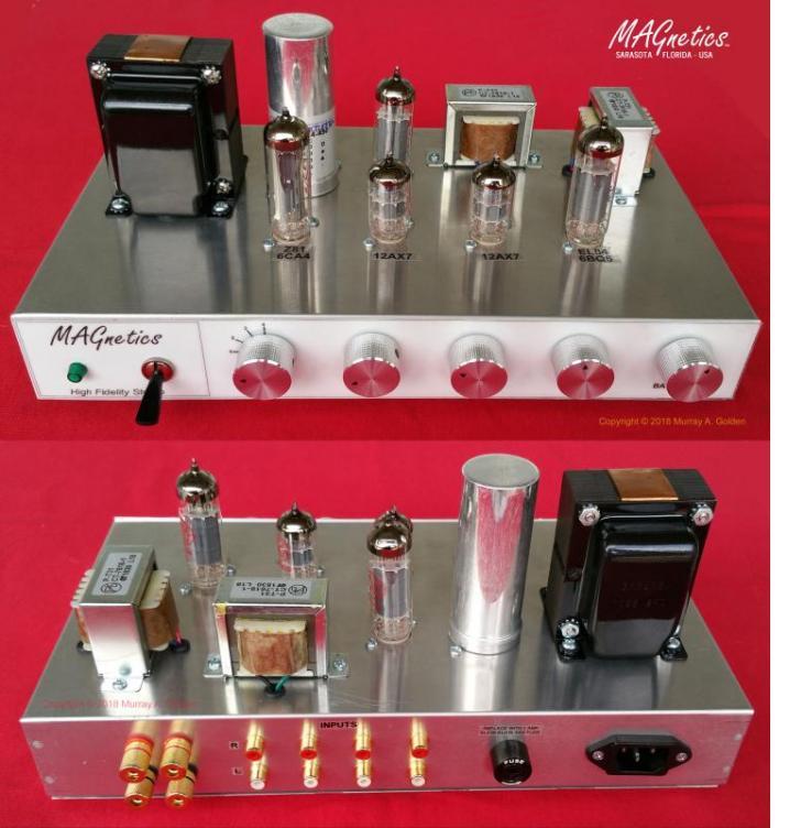 MAGnetics Amplifier - (5) 9 Pin Tube Sockets