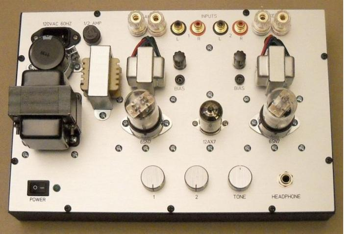 Headphone Amplifier Using 6SN7 output