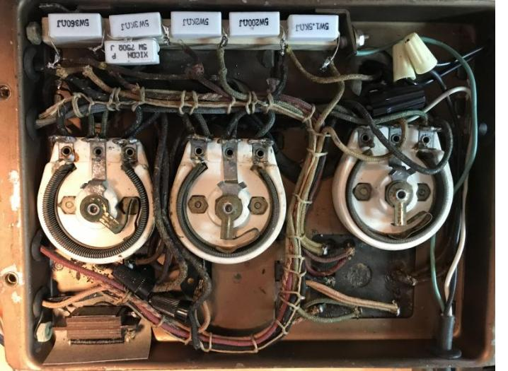 5 watt wire wound resistors used in the restoration of the power supply portion of an antique radio.