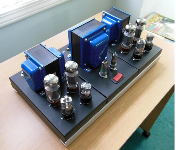 50W/50W Williamson amplifier using tubes from AES (4x EL34, 2x 6SN7, 2x 6SL7, 0A2, & 0B2. Amp has performed flawlessly for over 3-yeats!