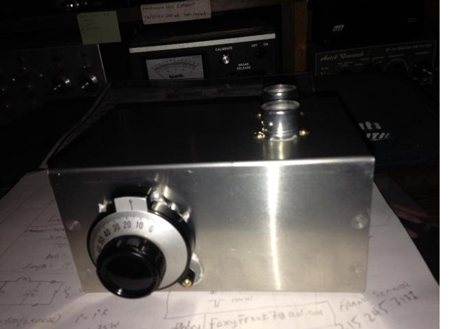 front panel of vacuum tube VFO