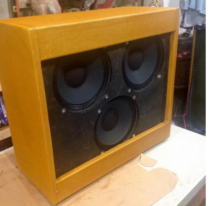 59 bassman clone cabinet multiple coats of shellac.