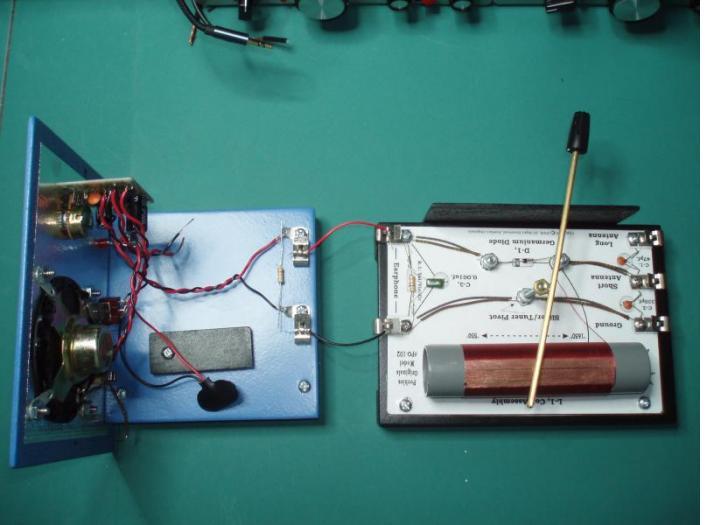 Crystal Set & Audio Output.