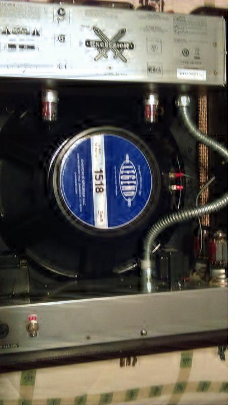 Upgraded speaker and tubes on the Fender Excelsior