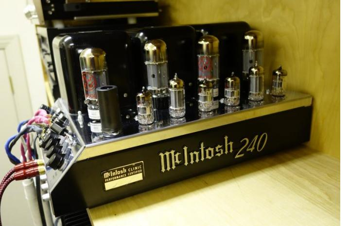 A 51 year old MC240 sounds as beautiful as ever with new AES tubes