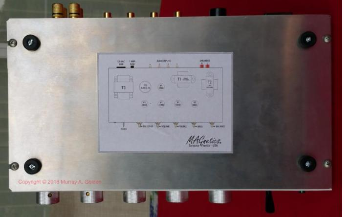 MAGnetics Amplifier - Tube Layout