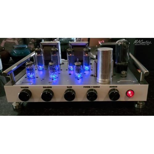 "Customer image:<br/>""MAGnetics Amplifier (w/ LED tube sockets)"""