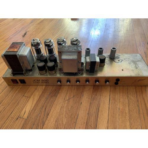"Customer image:<br/>""1982 Marshall 800 100w Head — Recapped using These JJ's Capacitors   Thanks  Beardo """