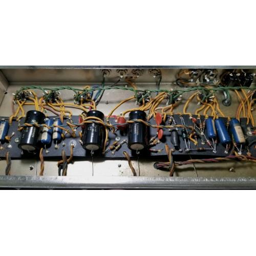 """Customer image:<br/>""""1965 Fender Pro Reverb, They will fit under the preamp power wires with a little coaxing. The sound seems to be brighter than the old paper covered Mallory dual 25/25&amp;#039;s. The positive leads are not round on this F&amp;amp;T"""""""