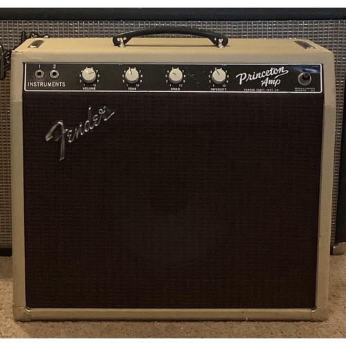"Customer image:<br/>""1964 Fender Princeton 6G2, rebuilt 1999. New cabinet, Cream Tolex, Oxblood Grill Cloth, Hardware from TubesandMore.com!"""