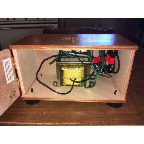 "Customer image:<br/>""Inside my cigar box bucking transformer """