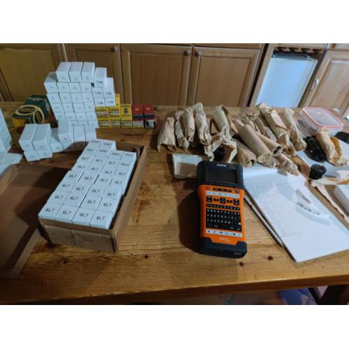 """Customer image:<br/>""""From paper wrap to nice new boxes. Starting the inventory of 600+ tubes"""""""