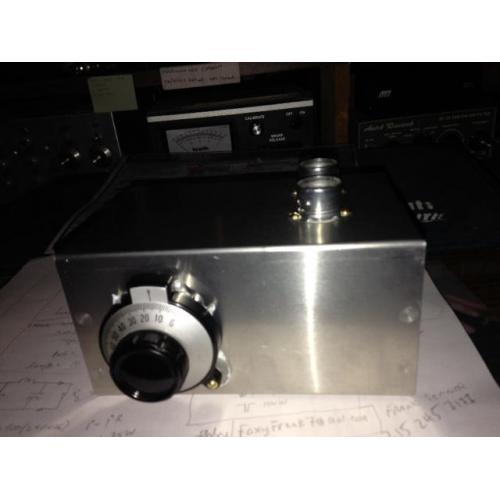 "Customer image:<br/>""front panel of vacuum tube VFO"""