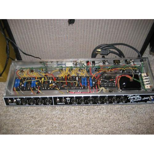 "Customer image:<br/>""A Twin Reverb re-hab using Blue Sozos"""