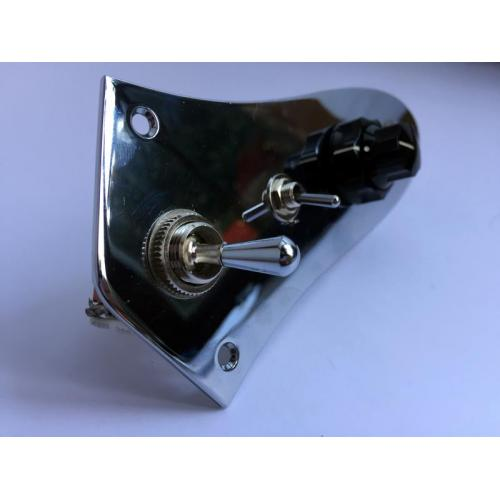 """Customer image:<br/>""""Toggle switch on Fender Jazz Bass control plate."""""""