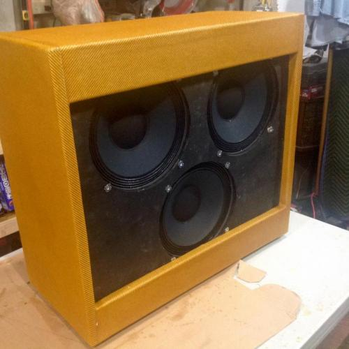 "Customer image:<br/>""59 bassman clone cabinet multiple coats of shellac."""