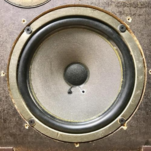 "Customer image:<br/>""A BIC 8950 8"" woofer on a Wharfdale W35"""