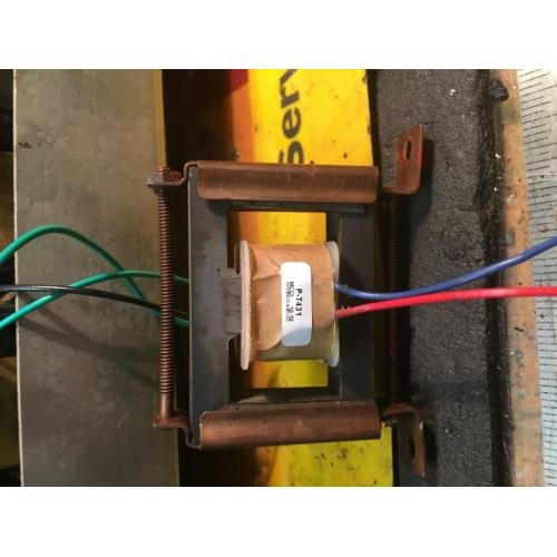 "Customer image:<br/>""Replacement of an interstage transformer coil. """