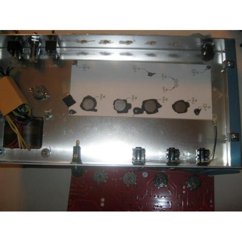 """Customer image:<br/>""""I always use cliff jacks when building an amp. early pic of 18 watt being built."""""""