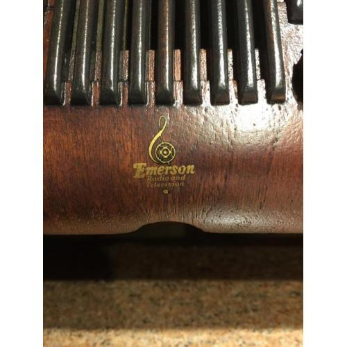 "Customer image:<br/>""Emerson logo decal on GA439.  Under two coats of Polycrylic spray."""
