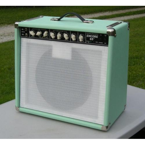 "Customer image:<br/>""My Peavey Encore I re-tolexed in Seafoam Green from AES, thank you! """