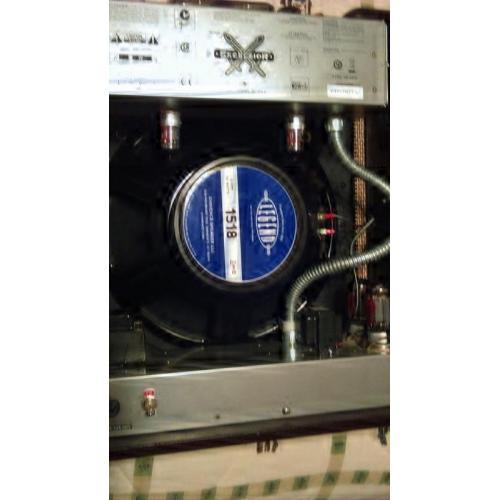 "Customer image:<br/>""Upgraded speaker and tubes on the Fender Excelsior"""