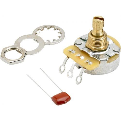 Potentiometer - Fender®, 250kΩ, Knurled Shaft, No Load image 1